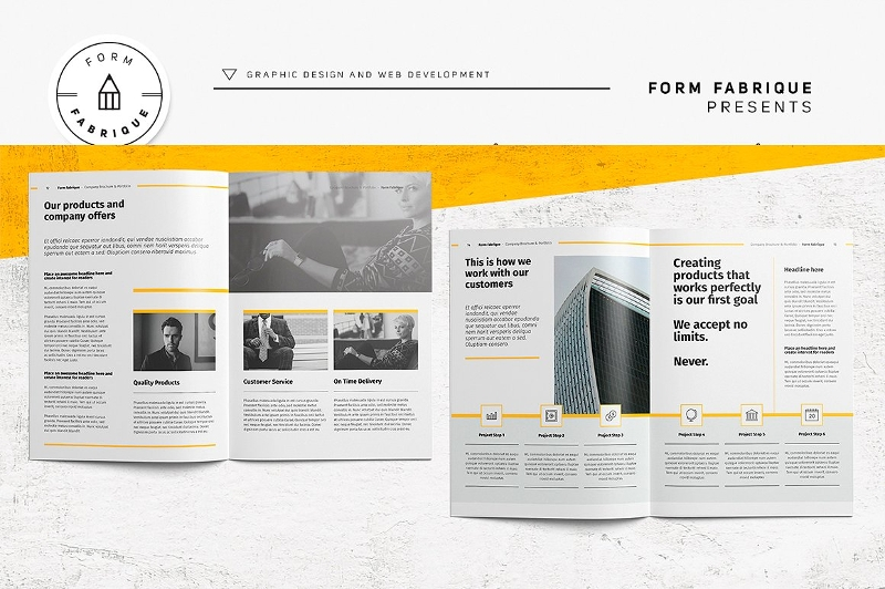 effective company brochure design