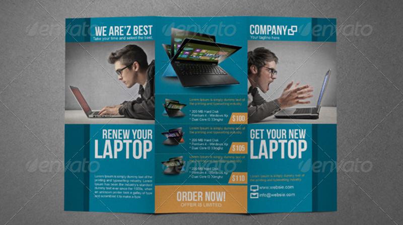 electronic tri fold sales brochure