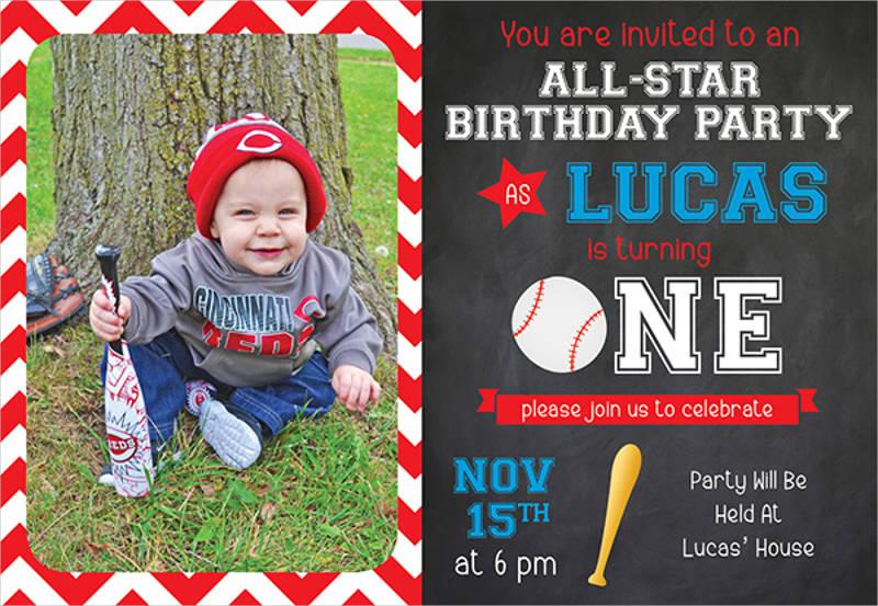 elegant 1st birthday party invitation