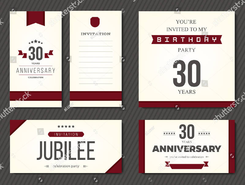 elegant 30th birthday invitation card