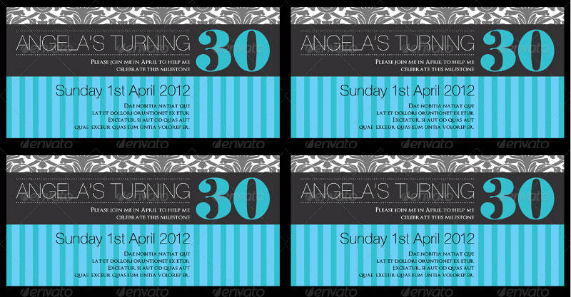 elegant 30th birthday invitation