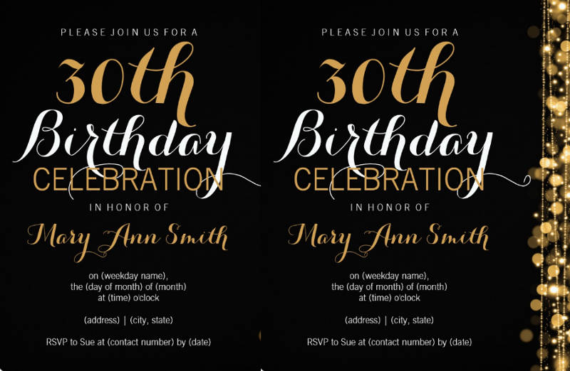 elegant 30th birthday party invitation download