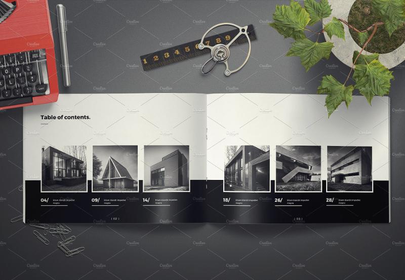elegant architecture landscape brochure