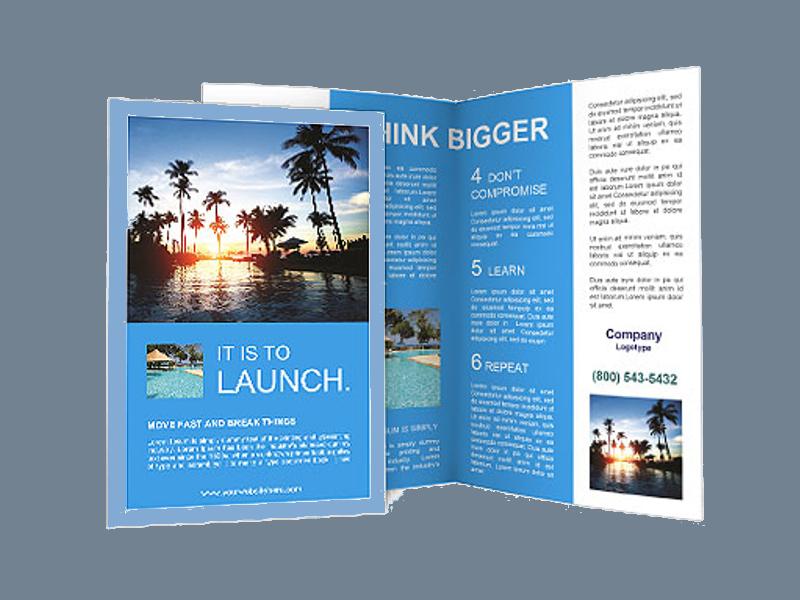 elegant beach resort brochure