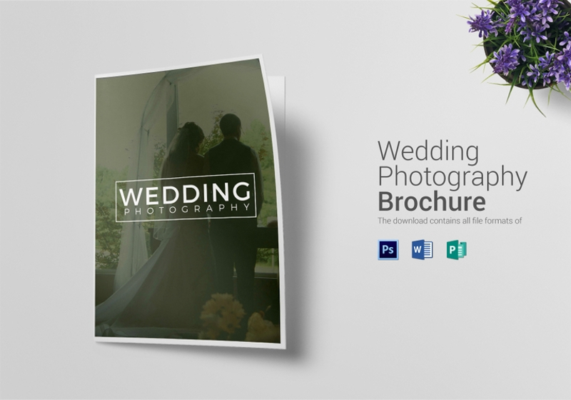 elegant bi fold wedding photography brochure template