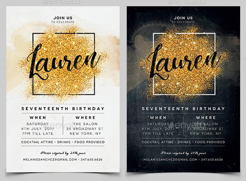 elegant birthday invitation design