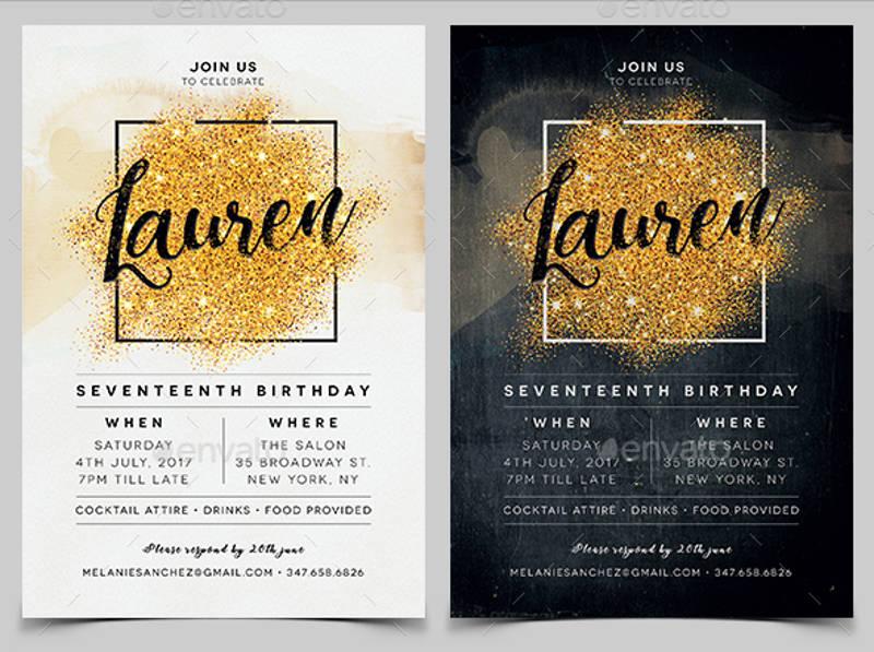 elegant birthday invitation1