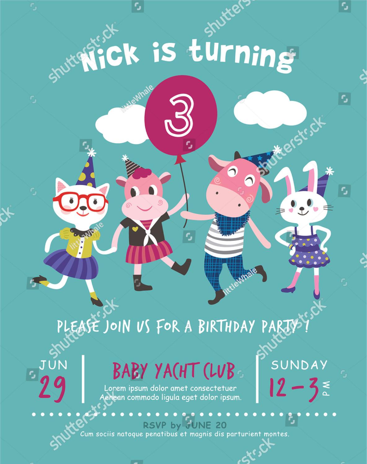 elegant birthday party invitation2