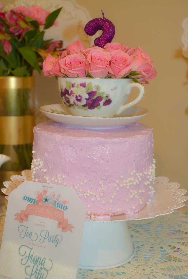 elegant birthday tea party invitation