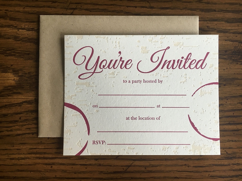 elegant blank invitation