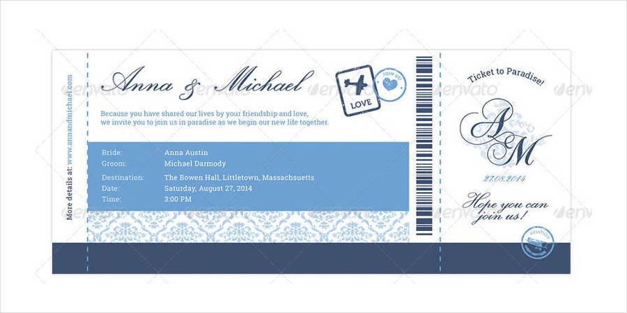elegant boarding pass wedding invitation rsvp1