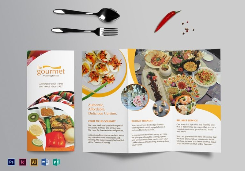 elegant catering brochure template