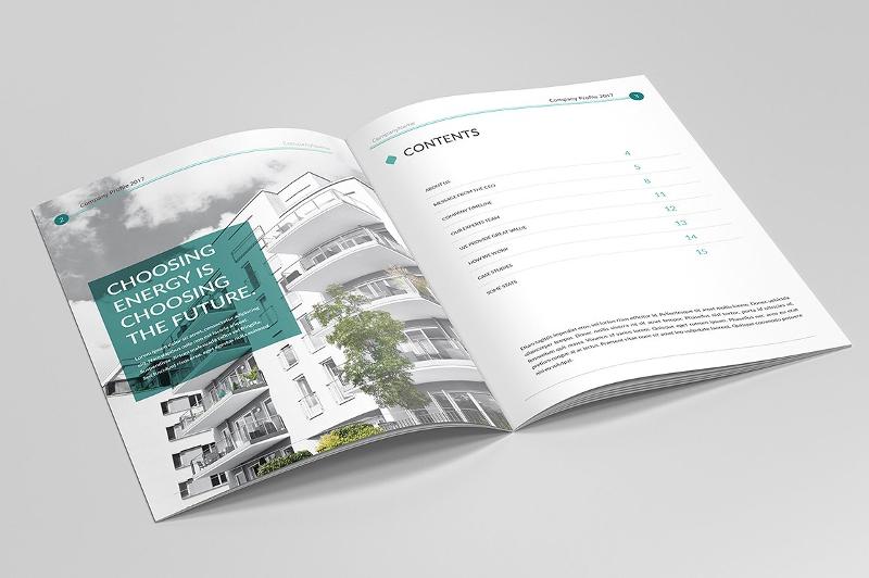 elegant company profile brochure design