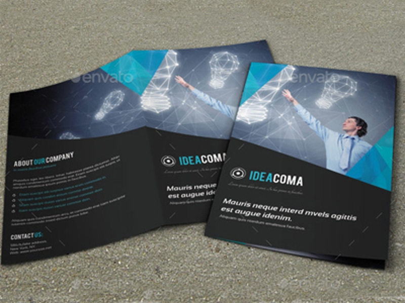 elegant corporate bifold brochure