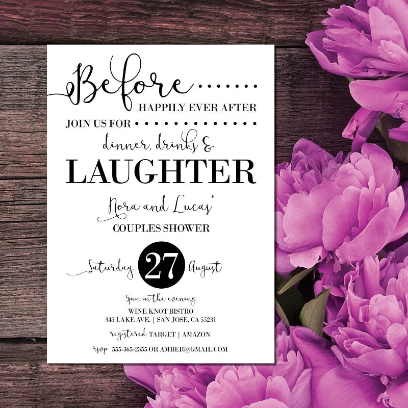 elegant couple shower invitation