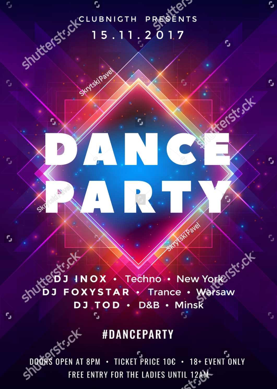 elegant dance party invitation
