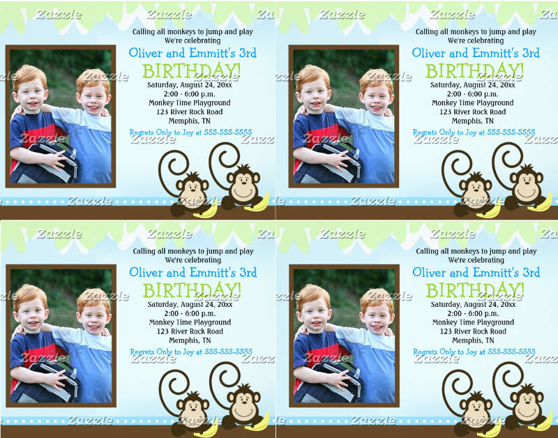 elegant double birthday party invitation