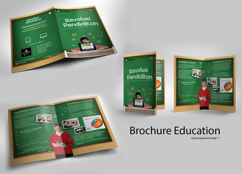 elegant educational brochure