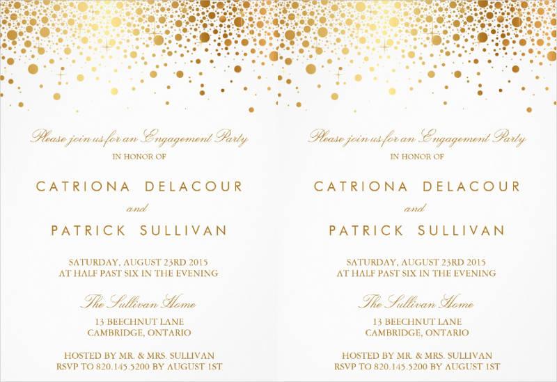 elegant engagement party invitation