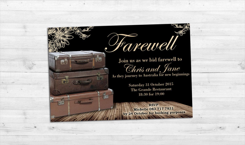 elegant farewell invitation