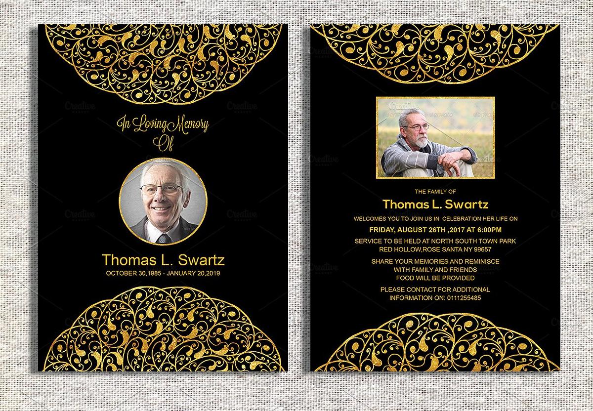 elegant funeral invitation