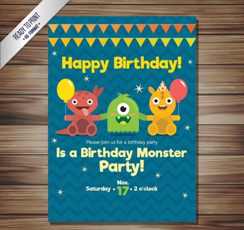 elegant funny birthday invitation