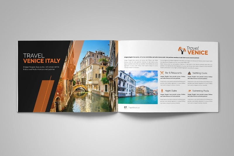elegant holiday travel brochure design