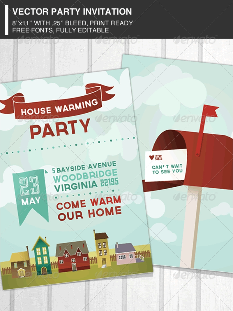 elegant housewarming party invitation