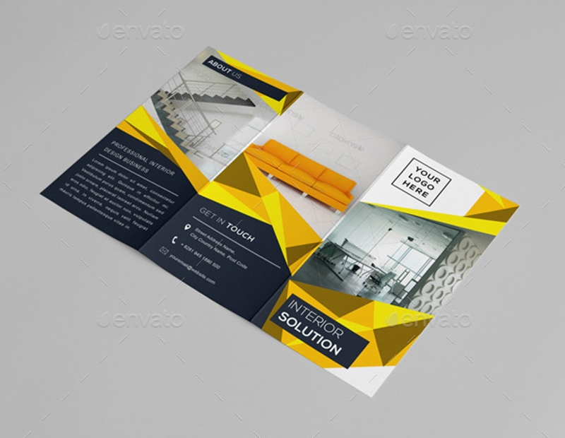 elegant interior brochure design