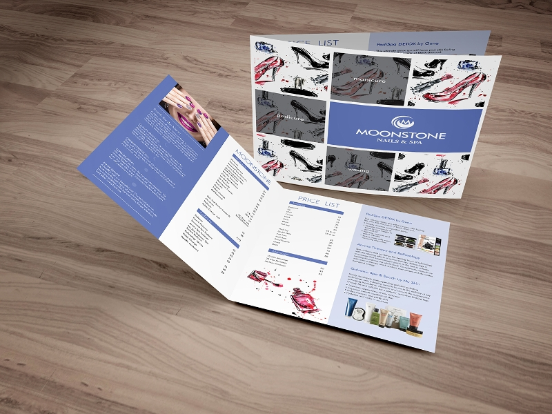 elegant nail salon brochure