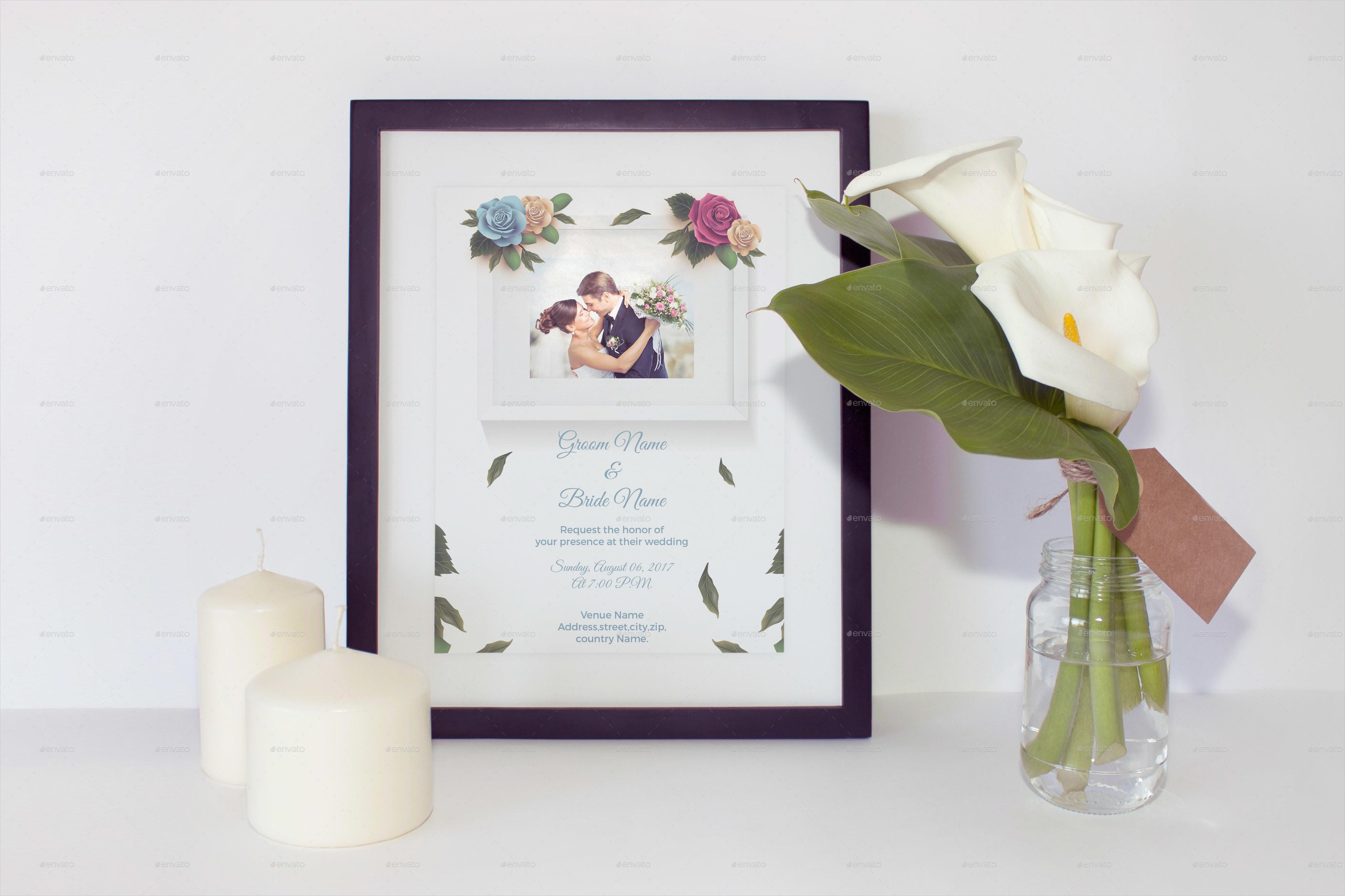 elegant outdoor wedding invitation