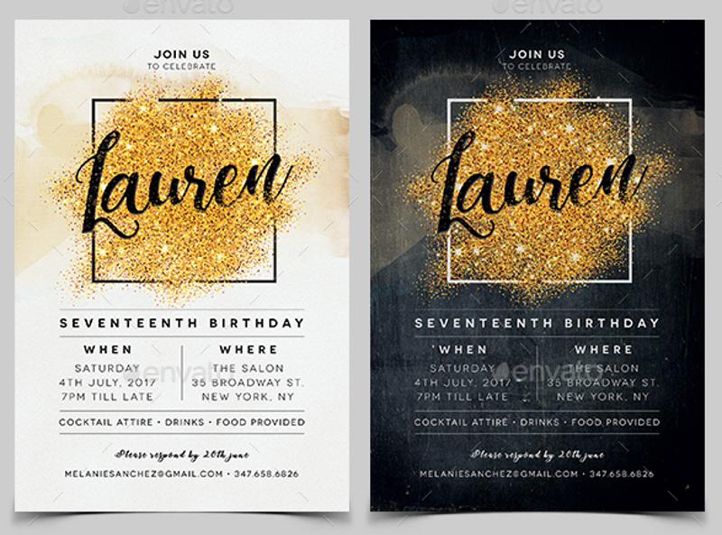 elegant personalized birthday invitation