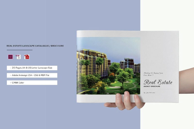elegant real estate agency brochure