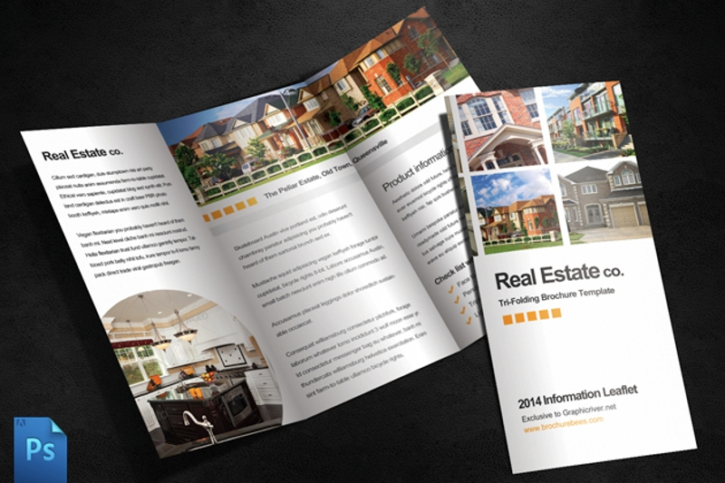 elegant real estate brochure template