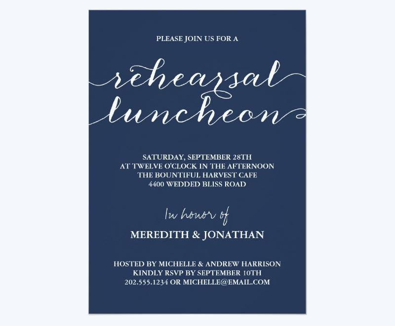 elegant rehearsal luncheon invitation card1