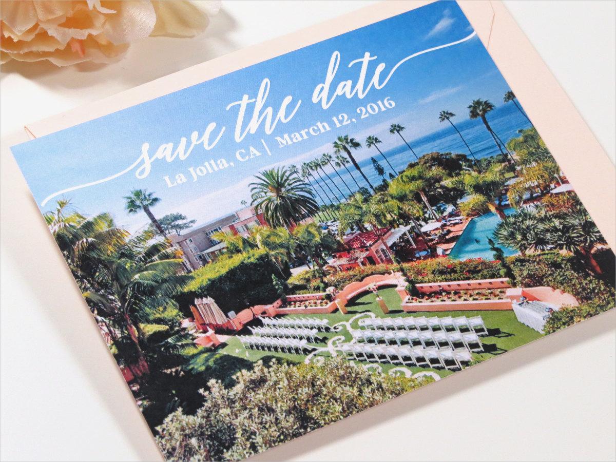 elegant resort wedding invitation