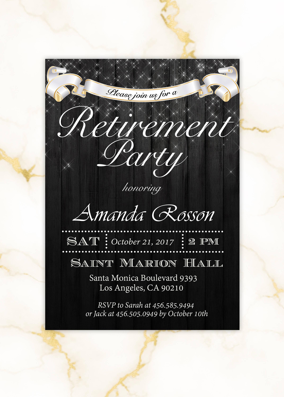elegant retirement party invitation1