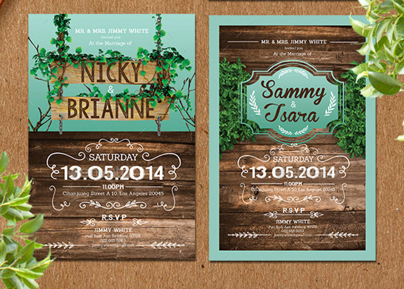 elegant rustic invitation template