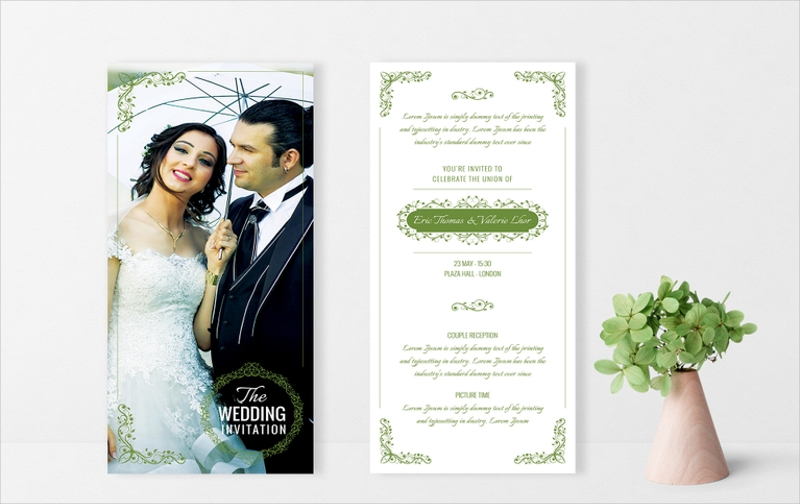 elegant wedding invitation card template3