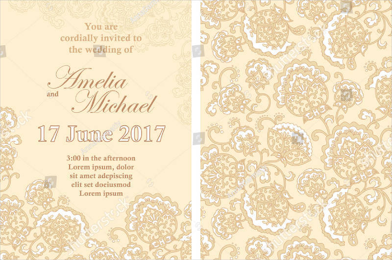 elegant wedding invitation card template2