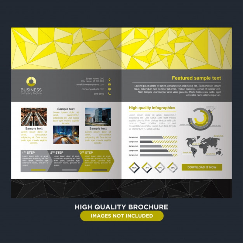 elegant yellow brochure for business