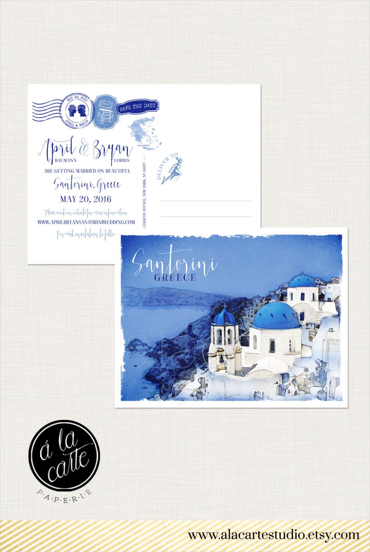 elegant island wedding invitation