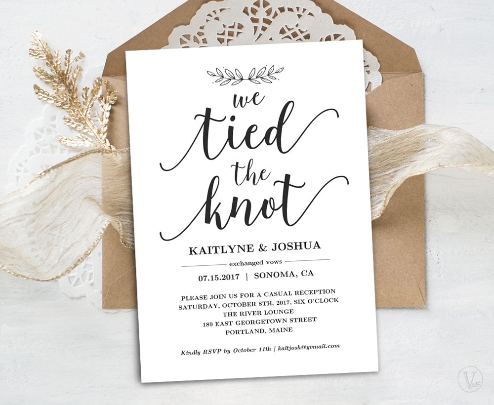 elopement reception invitation
