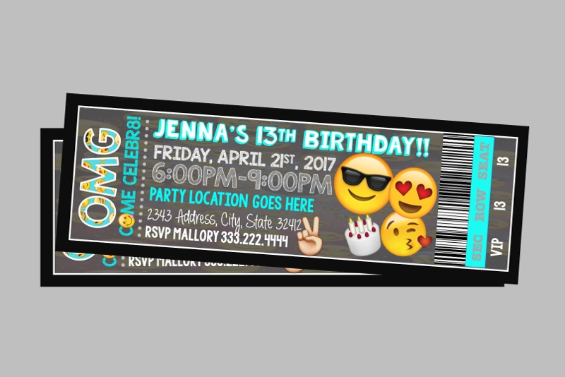 emoji ticket invitation
