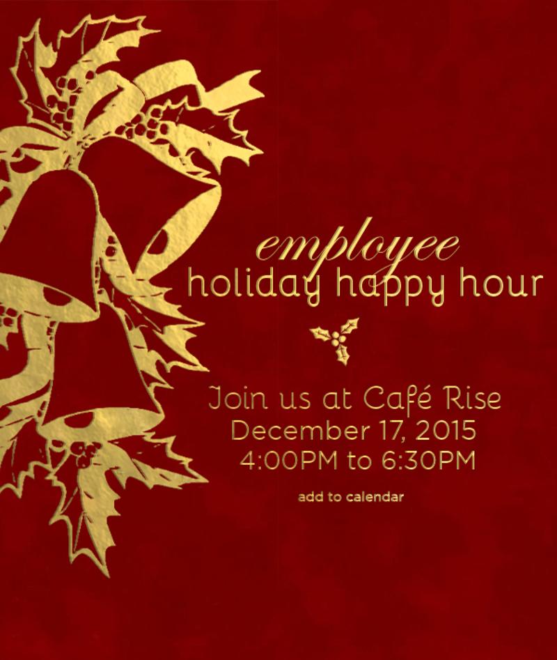employee holiday happy hour invitation