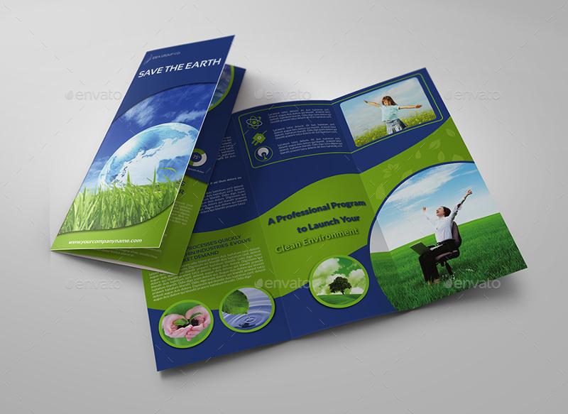 environment eco tri fold brochure