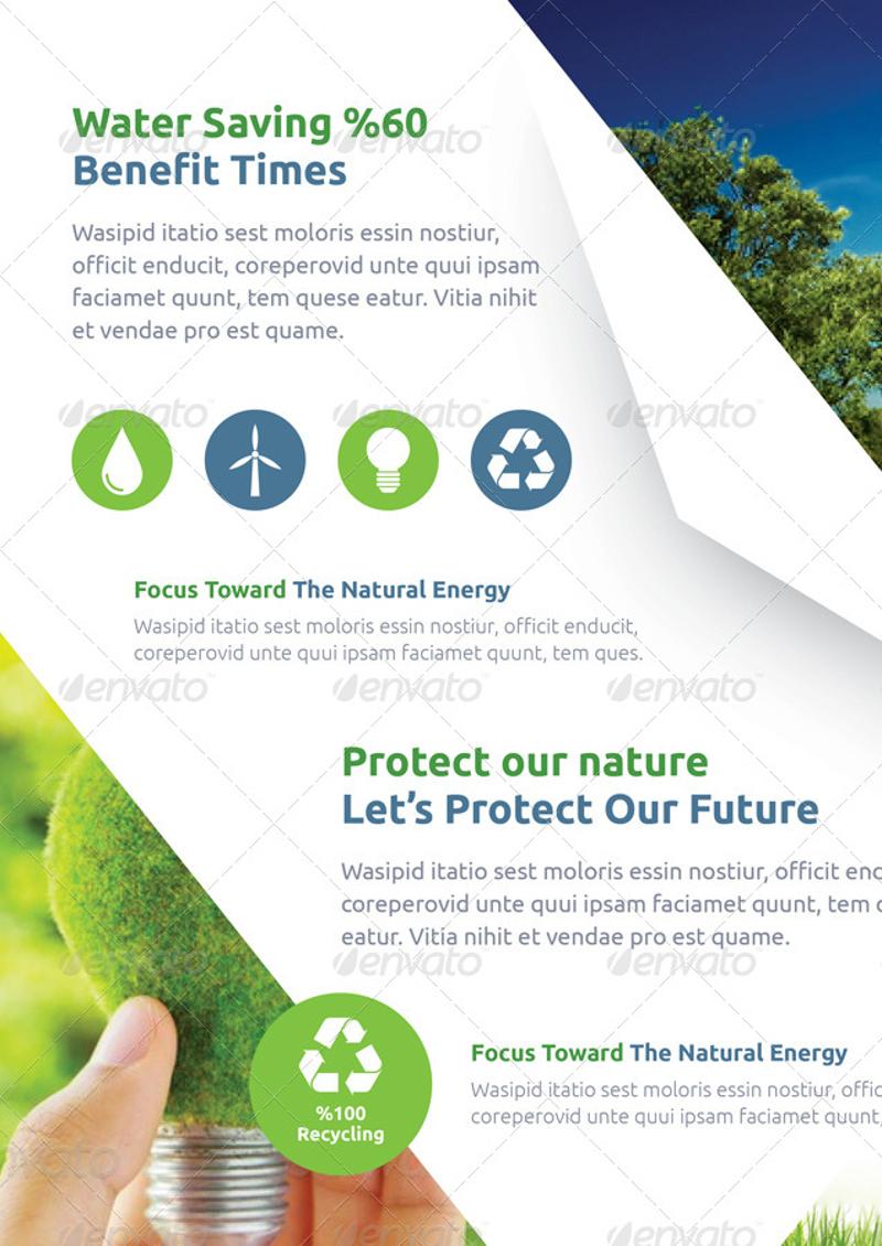 environmental green energy brochure