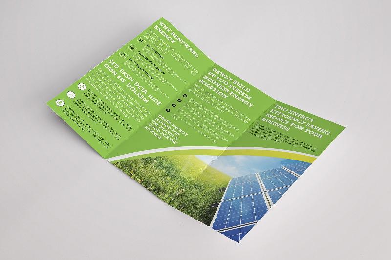 environmental green energy trifold brochure