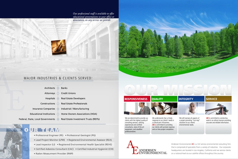 environmental service brochure
