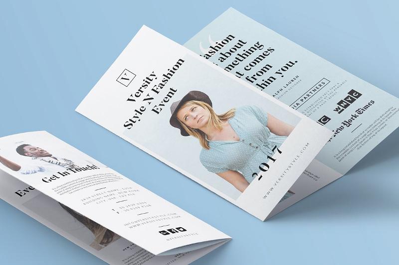 event tri fold brochure